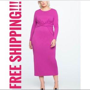 NWT Eloquii Front Twist Maxi Dress Purple Sz 20